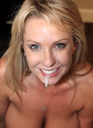 Cum on MILF Face XXX Pictures