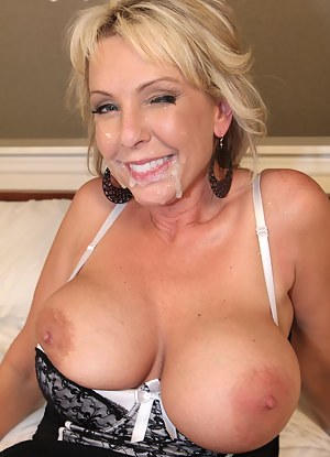 Cum on MILF Face XXX Pictures